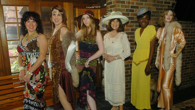 "Cheryl Blau, left, Vera Lucksted, Annika Taylor, Nancy Coumoundouros, Erica Reaves and Maria Taylor were all dressed up for the ""Fashions Then and Now"" vintage fashion show to benefit the Gov. Warner Mansion."
