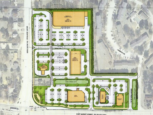 The developer for a proposed shopping center has provided a conceptual layout and other information to Springettsbury Township officials.