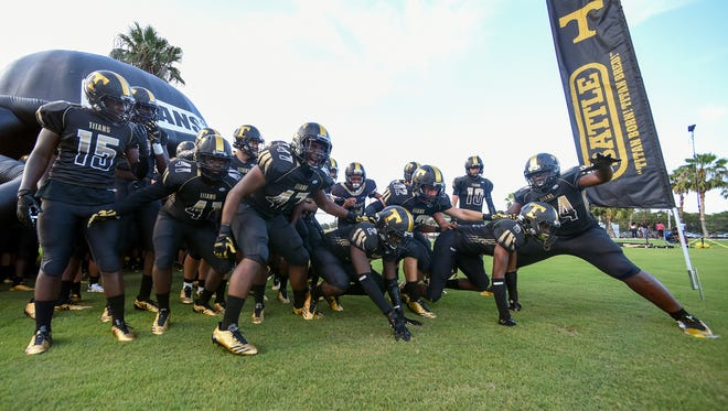 Fort Pierce Westwood faced off against Treasure Coast Friday, Aug. 18, 2017, during their high school football game at South County Regional Stadium in Port St. Lucie.