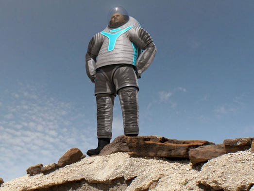This image obtained from NASA shows the winning design for the prototype of a new spacesuit. NASA had asked the public to vote on the design of its next-generation suit aimed for use on Mars. On April 30, 2014 NASA announced the winner with 233,431 votes. The design will be incorporated into the final version of the suit, which is expected to be ready for testing by November 2014.  Space Day was created by Lockheed Martin Corporation in 1997.  The goal was to motivate the youth of America to study math and science. This day was originally established as a one day event. An exciting topic of interest to millions, Space Day became an annual event.
