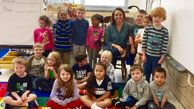 Angie Humphrey, a kindergarten teacher at McSwain Elementary School was named Staunton Teacher of the Year 2017.