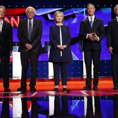 Jim Webb, Bernie Sanders, Hillary Clinton, Martin O'Malley