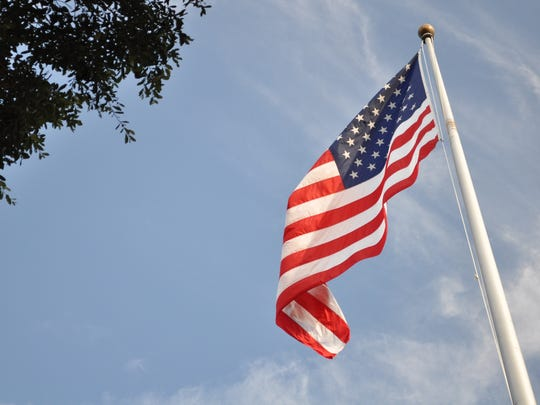 The flag at the Alexandria National Cemetery.