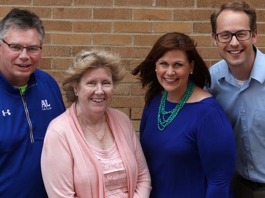 Argus Leader Media's Mick Garry (from left), Jill Callison, Emily Spartz Weerheim and Patrick Anderson.