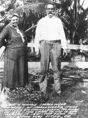 Mamie and Ted Smallwood of Ted Smallwood's Store, founded in Chokoloskee in 1906. Mamie Street, on which the court case centers, was named after Mrs. Smallwood.