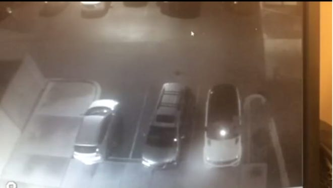 This screenshot from video posted to CPD's Facebook page shows a suspect entering unlocked car doors at the Courtyard Inn on Oct. 10.