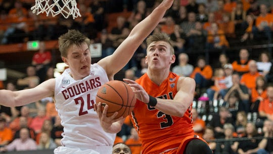 Oregon State forward Tres Tinkle averaged 20.2 points