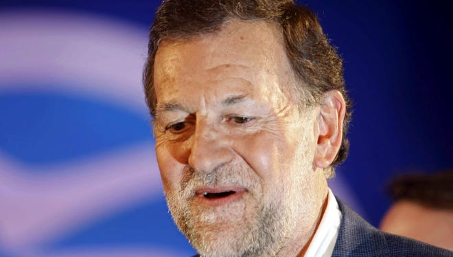 Spanish Prime Minister and presidential candidate of the Popular Party, Mariano Rajoy.