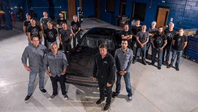 """Jim Kacmarcik and the crew at SpeedKore Performance Group modified muscle cars that appear in the latest installment of the """"Fast & Furious"""" movie series."""