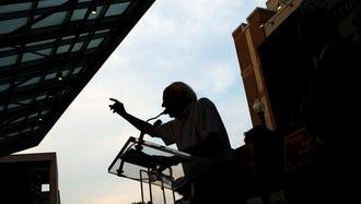 Sen. Bernie Sanders, I-Vt., speaks in Silver Spring, Maryland, on June 18, 2018.