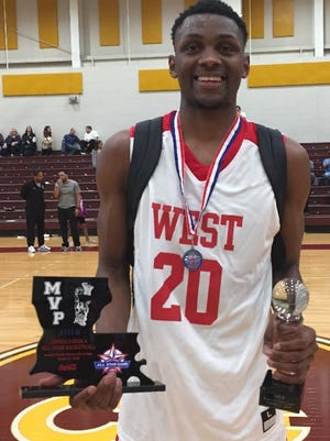 Woodlawn's Jalen Brooks was named the MVP of the LHSBCA All-Star game Saturday at BPCC.