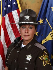 Teresa Woods when she was a Hendricks County sheriff's