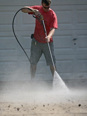 Pressure washing can eliminate grime and mildew, but it also can cause a serious injury if a person isn't careful.