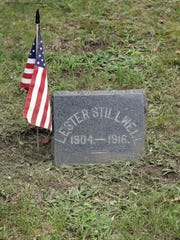The tombstone of Lester Stillwell, who was 11 when killed by a shark in Matawan Creek.