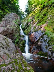 Morgan Falls is a narrow 70-foot waterfall in the Chequamegon-Nicolet