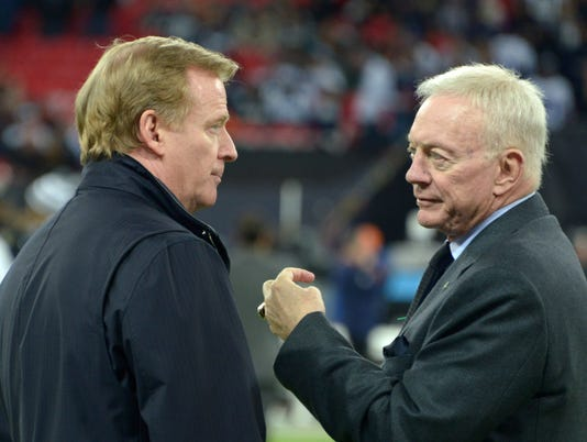 Roger Goodell and Jerry Jones