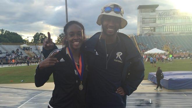 Roberson junior Michelle Cobb won the NCHSAA 4-A girls triple jump on Saturday in Greensboro.