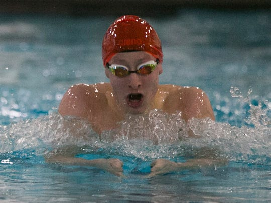 Morristown's Tommy Cromie swims the 200-meter individual
