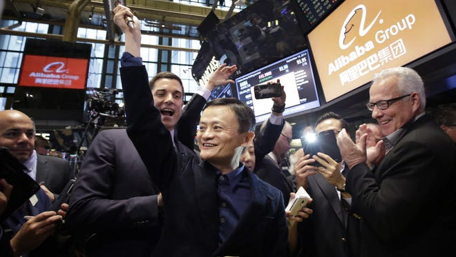 Jack Ma is rock star of Wall Street with historic IPO