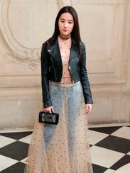 Chinese actress, Liu Yifei poses during the photocall