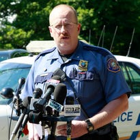 In this July 15, 2011, file photo, Portland police officer Larry O'Dea speaks during a news conference in Portland.