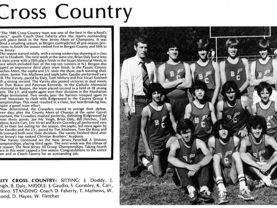 Bergen Catholic cross country team, pictured in the