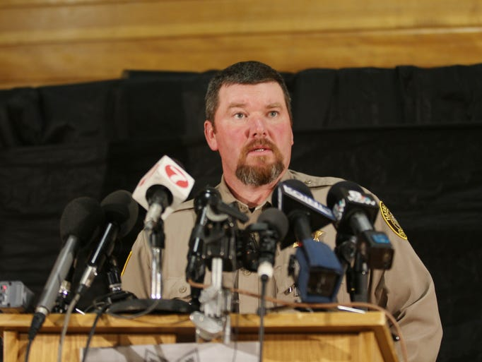 Harney County Sheriff David Ward speaks to the media