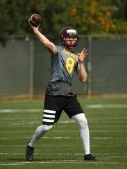 Arizona State quarterback Blake Barnett during spring