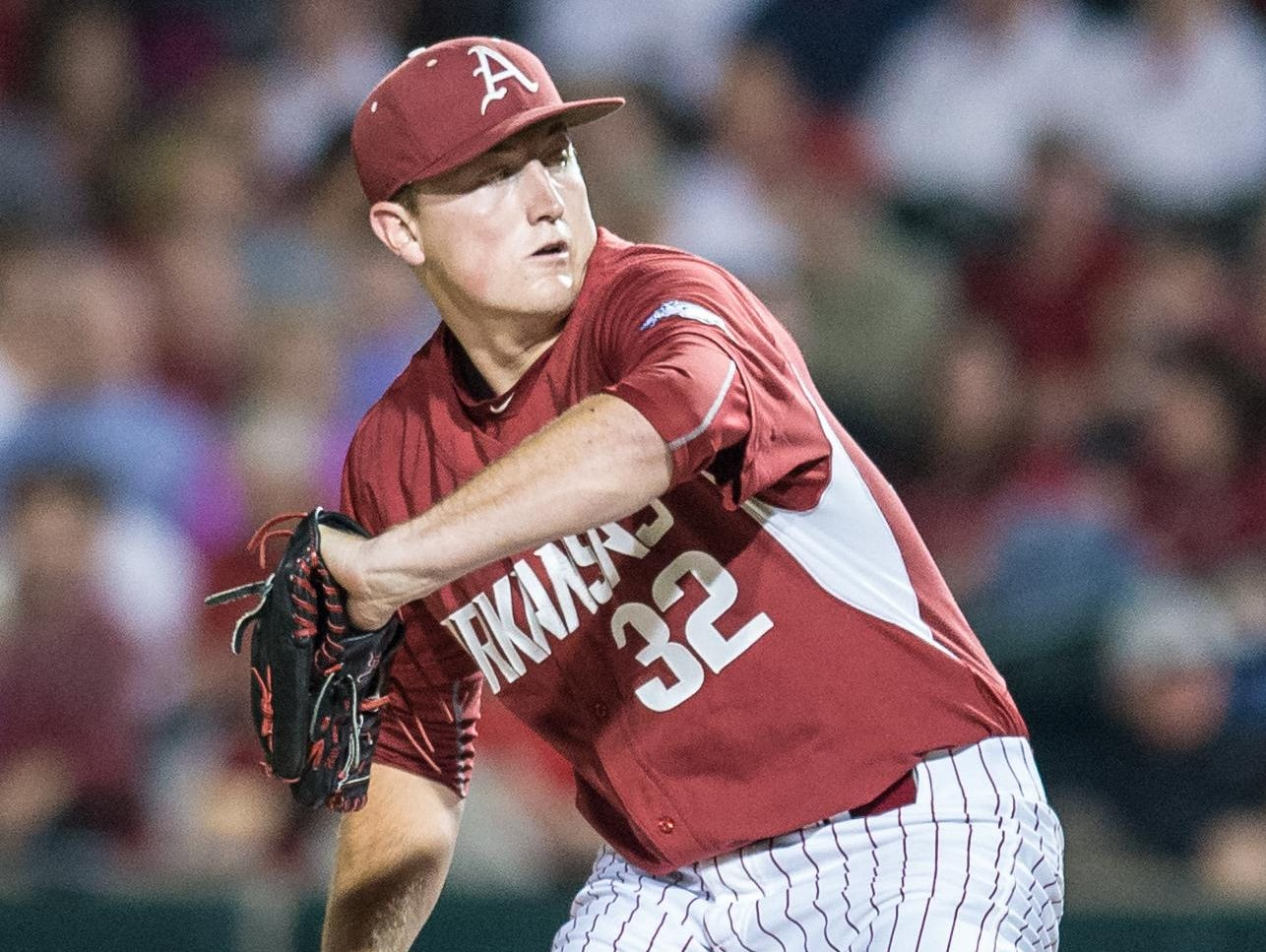 Arkansas closer Zach Jackson enters the Super Regional 5-0 with eight saves, 2.08 ERA and 89 strikeouts in 52 innings.