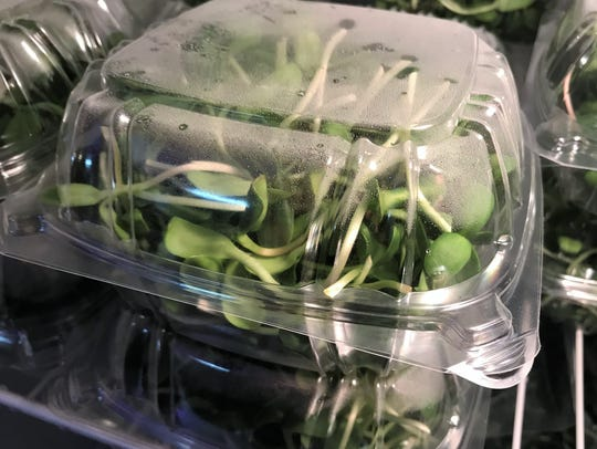 The microrgreens from Little Sprouts Farm will be available
