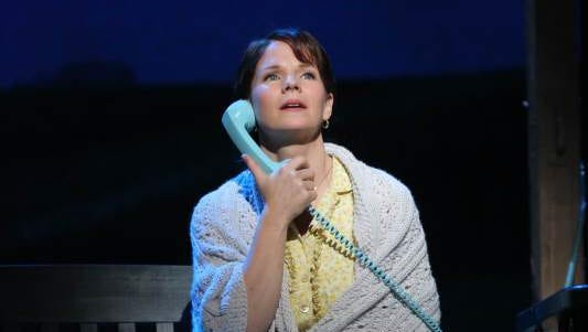Kelli O'Hara in The Bridges of Madison County at the Gerald Schoenfeld Theatre in New York. Based on the novel set in Iowa, the Broadway musical opens on Feb. 20, 2014.