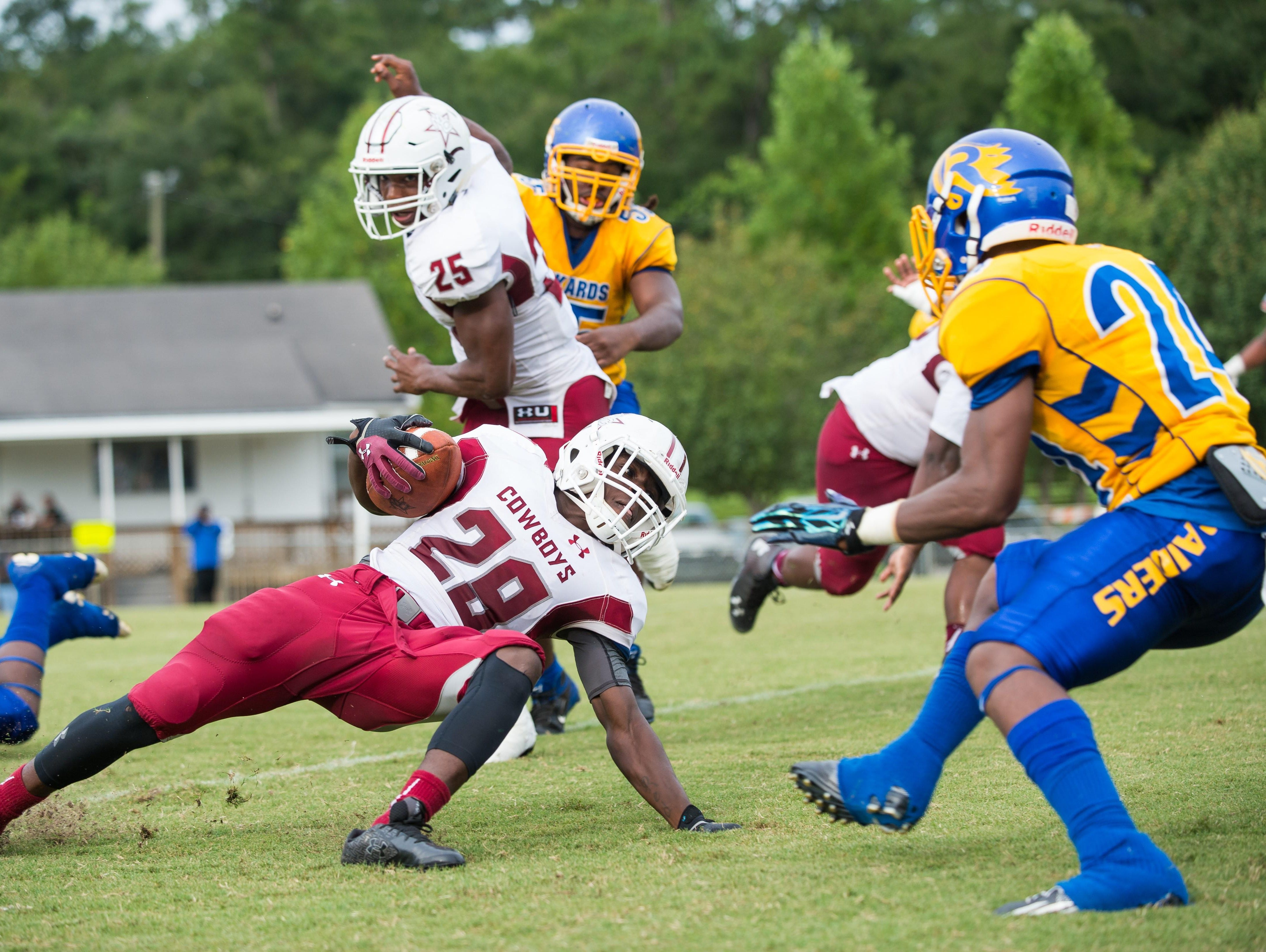 Madison County running back Patrick Brown has gained 1,122 yards on the ground this season and the Cowboys have won eight games in a row and are a win away from reaching the state semifinals.