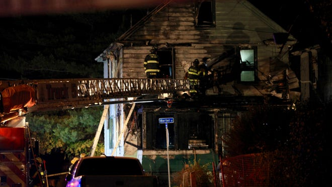 One person died and six were injured after a fire at this house on Hertel Street on Nov. 14, 2016.