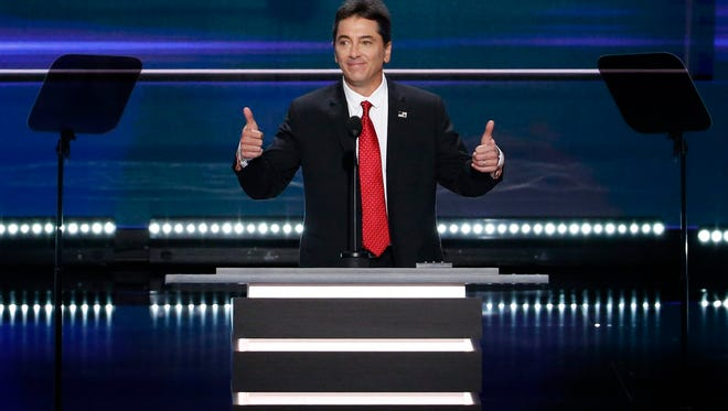 'Happy Days' actor Scott Baio took the dais Monday night at the GOP convention.