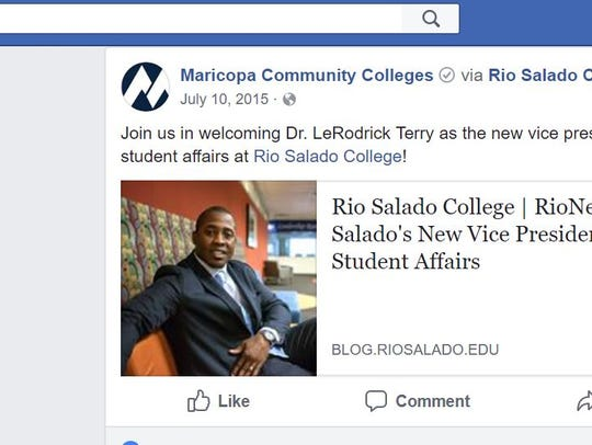 LeRodrick Terry joined Rio Salado College in 2015.