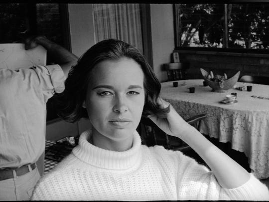Gloria Vanderbilt as a young woman, in an image featured