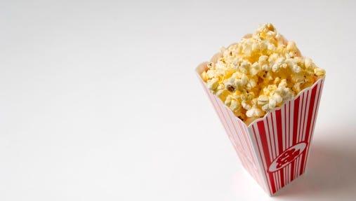Retro container of popcorn.