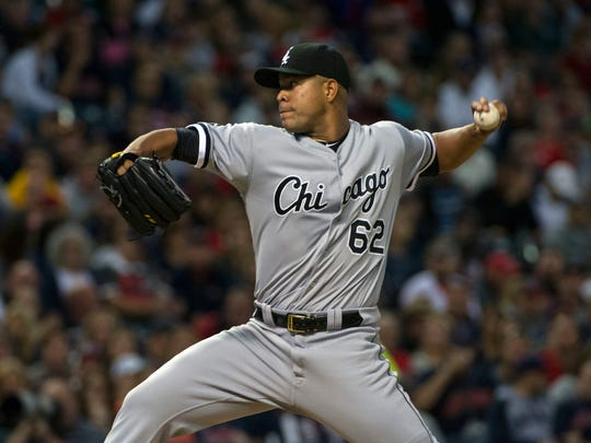 Chicago White Sox starting pitcher Jose Quintana is