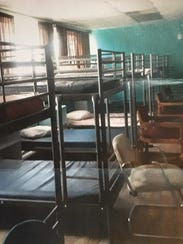Some of the new metal bunk beds Kiddie Keep Well Camp