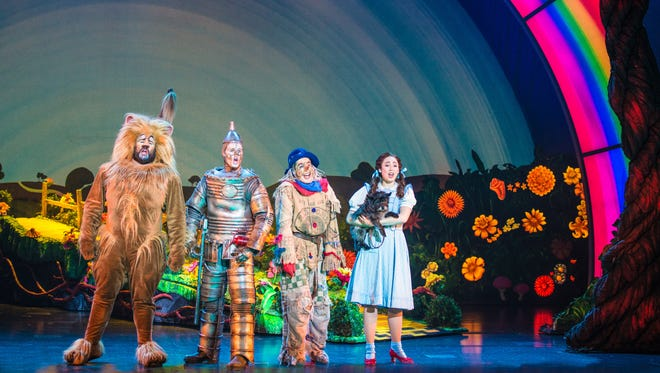 The touring production of 'Wizard of Oz' continues here through Jan. 24.