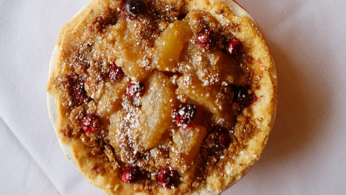 Uptown Cafe's recipe for pear and cranberry tart