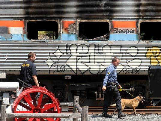 Railroad car fire