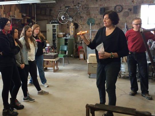 Stephanie Trenchard explained to Gibraltar students