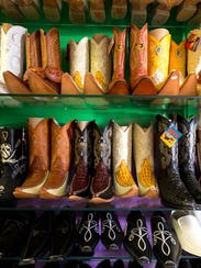 The wide selection of boots available at Novedades