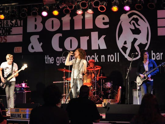 Wailing Waters performs at Bottle & Cork during the