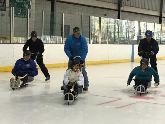 Operation Beachhead participants hit the rink for some