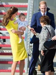 George's first handhake