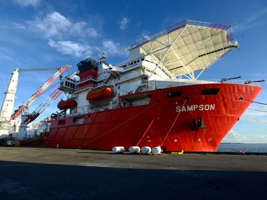 A second subsea construction vessel that is biblical in both name and size has docked at the Port of Pensacola