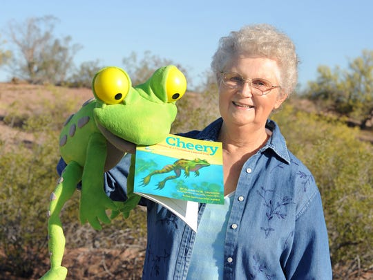 ASU microbiologist and author Elizabeth Davidson, author of Cheery: The True Adventures of a Chiricahua Leopard Frog, will be appearing at the Arizona Authors Summertime Storytelling event at Pueblo Grande Museum.