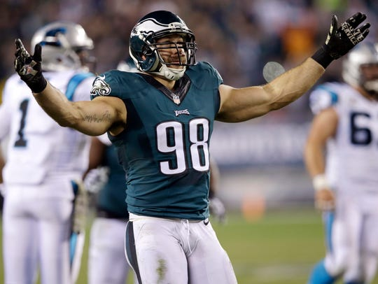 The Rams added outside linebacker Connor Barwin, hoping